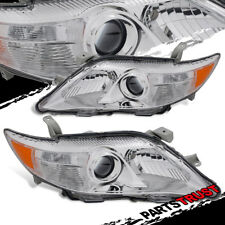 2010 2011 Toyota Camry Projcetor Factory Style Chrome Headlights Pair Left+Right