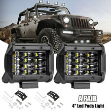 2PCS 4 INCH 72W CREE Led Work Light Bar Flood Driving Fog For Offroad Truck SUV