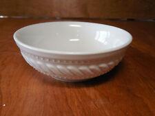 Gibson IMPERIAL BRAID White Set of 4 Fruit Dessert Bowls 5 1/2  Embossed & Dessert Bowl White Stoneware Dinnerware | eBay