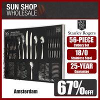 100% Genuine! STANLEY ROGERS Amsterdam 56 Piece Cutlery Set! RRP $299.00!