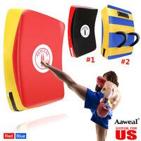 Strike Kick Thai Pad Shield Focus Curved Muay Thai MMA Kicking Boxing Aaweal