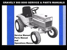 GRAVELY 800 8000 SERVICE OPERATION & PARTS MANUALs Set -210pg for Tractor Repair