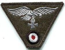 WWII German Luftwaffe Cap Trapezoid Eagle Iron Cross Field Grey Wool Patch Repro