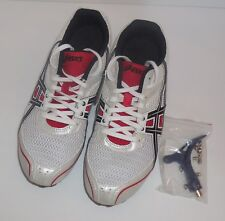 Mens 11 ASICS Hyper MD Track & Field Shoes Cleats Spikes G101N White Black New