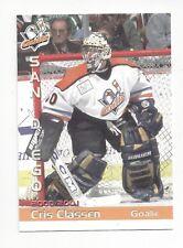 2000-01 San Diego Gulls (WCHL) Cris Classen (goalie)