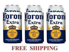 Corona Extra 3 Beer Can Coolers Koozie Coolie Huggie Modelo New