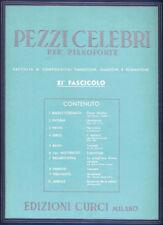 PEZZI CELEBRI Fasc. 11° - per pianoforte - Edizioni Curci