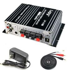 Mini Hi-Fi Audio Stereo Digital Amplifier Mp3 iPod home + Power + Cable 700W 12V