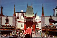 Vtg 1950's Mann's Chinese Theatre in Hollywood California CA Postcard g4463
