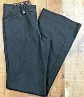 "Express Editor Flat Front Straight Leg Gray Women's Pants Size 2R  28x32"""