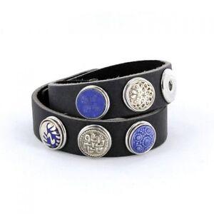 NEU Noosa Armband antikschwarz doppelt gewickelt WDS-060-05