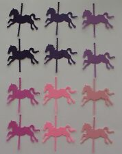 30 CAROUSEL HORSE MERRY GO ROUND PUNCH SCRAPBOOK DIE CUTS! PICK UR COLOR!