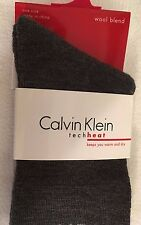 Calvin Klein Socks~Tech Heat Cushioned Socks~Wool Blend~Charcoal~ NWT