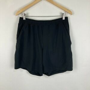 Lululemon Mens Shorts Size L Large Blue Elastic Waist Drawstring Virgin Fitness