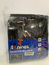 4Knines Luxury Crew Cab Rear Bench Seat Cover w Hammock Heavy Duty Black