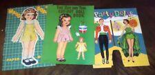 Vintage Lot (3) 1943-1944 Paper Cut-Out Dolls Samuel Lowe Company Bonnie Books