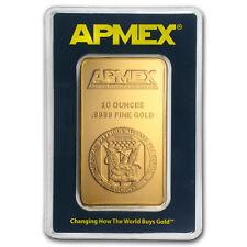 10 oz Gold Bar - APMEX (In TEP Package) - SKU #75708