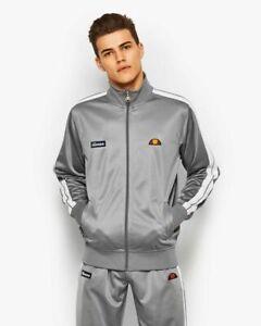 Ellesse Cervino Track Top Herren Grau Reißverschluss Sportbekleidung Sweatshirt