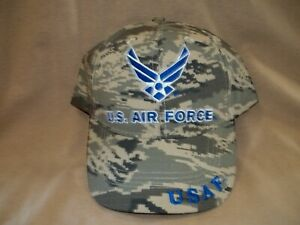 Air Force Camo Ballcap with the Air Force Emblem on the Front