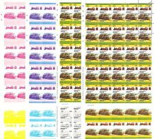 Leek & Manifold J.B.EARLE Train Progressive Proof 50-Stamp Sheets x 8 (Imperf)