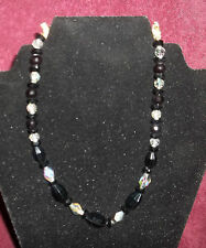 VINTAGE VENDOME SIGHNED CRYSTAL BEAD NECKLACE GORGEOUS CHOCKER 15 INCHES LONG