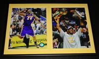 Kobe Bryant 2009 NBA Finals Framed 12x18 Photo Set Lakers w/ Trophies
