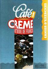 Hachette CAFE CREME 1 Methode de Francais CAHIER D'EXERCICES French Language NEW
