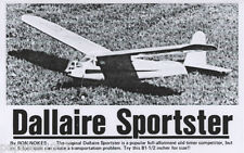 """Model Airplane Plans (FF): Dallaire Sportstor 81½""""ws OT for .29-.35 Engine"""