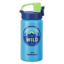 Kathmandu Kids Stainless Steel Sports Sipper Drink Water Bottle Blue