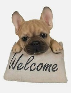 Vivid Arts Pet Pal French Bulldog Welcome Dog Ornaments