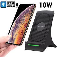 Qi 10W Schnellladegerät Drahtloses Ladegerät Stand für iPhone Huawei Mate 20 Pro