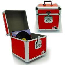 "Gorilla LP100 12"" LP Vinyl Record Box DJ Storage Carry Case Red Holds 100 (Pair)"