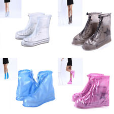 Waterproof Rain Shoes Covers Fashionable Non-Slip Thicken Flat Heels Ankle Boots