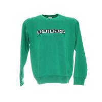 Vintage Adidas Sweatshirt Größe S Retro Pullover Pulli Grün Langarm Stickerei