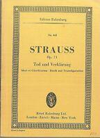 Taschenpartitur : Richard Strauss ~ Tod und Verklärung