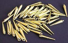 150 Großpack Spikes Beads Anhänger gold 23 x 4 mm Perlen mit Öse Dornen Spitzen