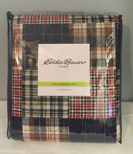 Eddie Bauer Madrona Reversible Quilt with Matching Shams, Full/Queen, Plaid New!