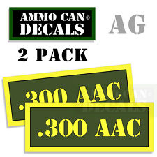 300 AAC Ammo Can Box Decal Sticker bullet ARMY Gun safety Hunting 2 pack AG