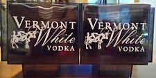 Vermont Spirits White Vodka Napkin Holders (Pair) With Napkins Cow'S Milk Vodka