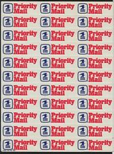 1981 Priority Mail labels MNH full sheet of 33 as issued