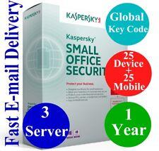 Kaspersky Small Office Security 3 Server/25 Dev+25 Mobil/1 Year Global Code 2018