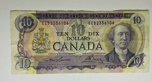 Canada 1971 10 Dollar Banknote EEB2356106