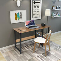 Modern Wood Computer Desk with 2 Tier Shelves PC Laptop Home Office Study Table