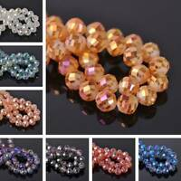 12mm 10pcs Round Faceted Ball Crystal Glass Charm Spacer Loose Beads DIY Craft