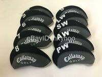 10PCS Golf Club Covers for Callaway Iron Headcovers Black&Gray 4-LW Protector RH