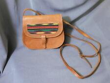 Smaller LEATHER PURSE with Southwestern Design Detail & adj. Strap Medicine Bag?