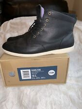 CLAE Hamilton Brown Leather Sneaker Boot Lightweight Men US 10.5