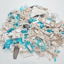 """LEGO 3lb White & """"Glass"""" Misc Pieces SANITIZED Bulk Pound Lot Brick Part s"""