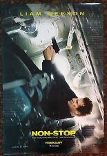 NON-STOP Movie Poster 27x40 DS Authentic Liam Neeson