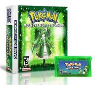 Pokemon Moemon Emerald + Custom Case - GBA Gameboy Advance Anime Fan Made Hack
